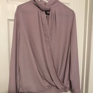 Mauve/blush long sleeve blouse